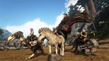 Team up with friends to fortify and rule the dinosaurs