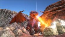 ARK grants players a fiery reception.