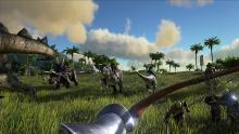 Gather your friends, tame some dino's together and take your reptilian army out for a stroll, why not destroy that player hut you've been seeing growing on the horizon?