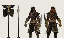 The Venatori are from the Tevinter Imperium, and their culture is shown in their pointed outfits