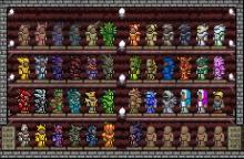 A player's collection of armor sets