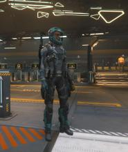You can wear armor anywhere in Star Citizen, even the cities.