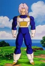 Following a year in the Hyperbolic Time Chamber, Trunks and Vegeta have both powered up. Emphasizing his connection to Vegeta, he even dons armor similar to that of his father.