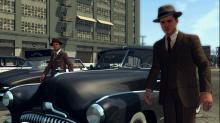 Cole Phelps and his partner arrive to a fresh crime scene.