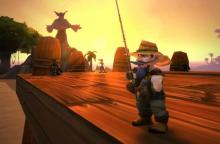 Sometimes, a gnome just needs a little downtime... Fishing.