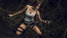 Cosplay of the main character of the famous 2013 game.