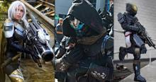 The three classes that can be played in Destiny 2.