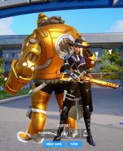 An all gold Bob caused by a bug in Overwatch (not all bugs are bad)