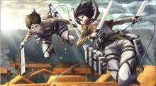 See how cool Mikasa looks even while skillfully swinging around