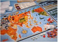 Board set up for Axis and Allies