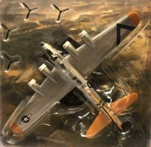 A plastic miniature model of the bomber plane.