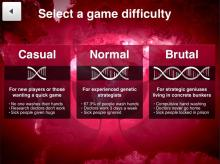 You can choose which level of difficulty you want to play bacteria on.