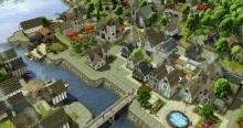 Gorgeous village built with mods in Banished