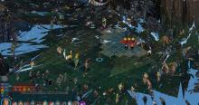 A tactical view of the battlefield in The Banner Saga