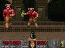 These gentlemen were the final boss in the first episode of Doom in 93