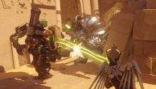 Bastian is mowing down Reinhardt in a narrow corridor. These two titans are bound to kick up some dust.