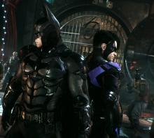 Arkham Knight utilizes a tag team system which allows you to switch between characters on the fly.