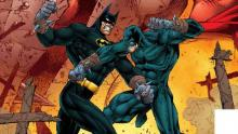 Batman getting a little extra boxing practice sparring with his old mentor Wildcat.