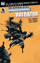 A special comic where Batman meets the Predators as they hunt him to be blooded.