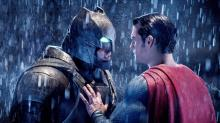 With his Mech Suit and some Kryptonite, Batman overpowers Superman in the DCEU's Batman vs. Superman