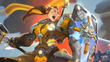 Brigitte charges into battle.