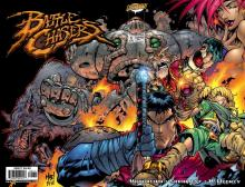 The original comic book cover for the Battle Chasers Comic