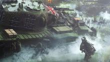 The player is running alongside a tank