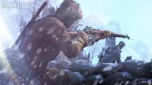 Battle Field V soldier on alert.
