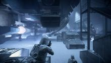 Battling across planet Hoth in Battlfront 2 multiplayer.