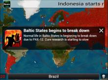 You know your plague is doing a good job when countries start breaking down.