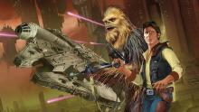 Play characters just like fan favorites, Han Solo and Chewbacca.