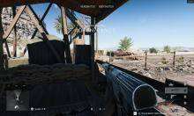 Here's a common situation where a soldier walks past a doorway, with the default FOV enabled.
