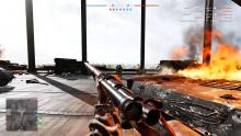 A player brings his Arisaka's sights to bear as he flanks a group of enemies.