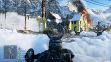 A Support player provides over-watch on the A Flag on Narvik.