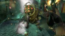 Watch out for Bioshock's minibosses, the Big Daddies.