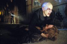 a mutated vampire attacks and kills a victim