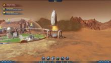 A new rocket lands on the Martian soil in Surviving Mars