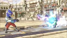 Although Falco's blaster is slower than Fox's, it has better stun power
