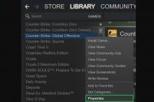 Go to your library, then go to CS:GO. Right Click CS:GO, then select properties.
