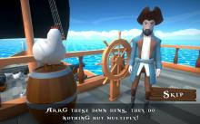 Blow The Hen Down - stop the hens and help the pirates!