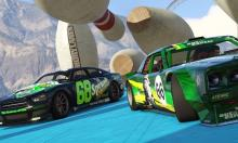 Racing comes with obstacles. Like bowling pins!