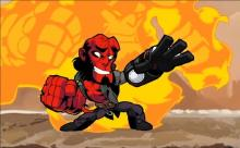 Brawlhalla features many corssover events. At one point Mike Mignola's Hellboy character crossed over.