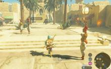 Gerudo Town is a good place to shop for ingredients