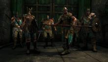 Trapped,  group of Vikings prepare to make a final stand in the story mode