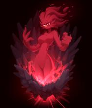 A Brimstone Elemental, added by the Calamity Mod