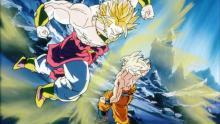 Goku vs Broly in the original movie