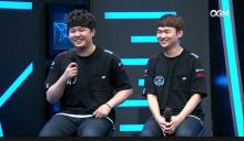 Candid interview with these two titans after a match against SKT T1
