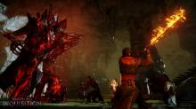 The Red Templars let red lyrium corrupt their bodies, and Behemoths are the aftermath