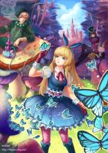 Alice summons her butterflies for help.