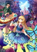 Alice summons her butterflies for help.